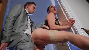 Brazzers Network: Cathy Heaven and Danny D butt fucking
