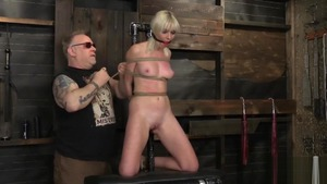 Roped in company with blonde Marie Mccray