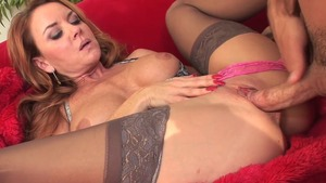 Redhead Janet Mason has a passion for the best sex in panties